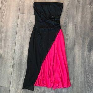 Beautiful Black/Pink Dress with Beading